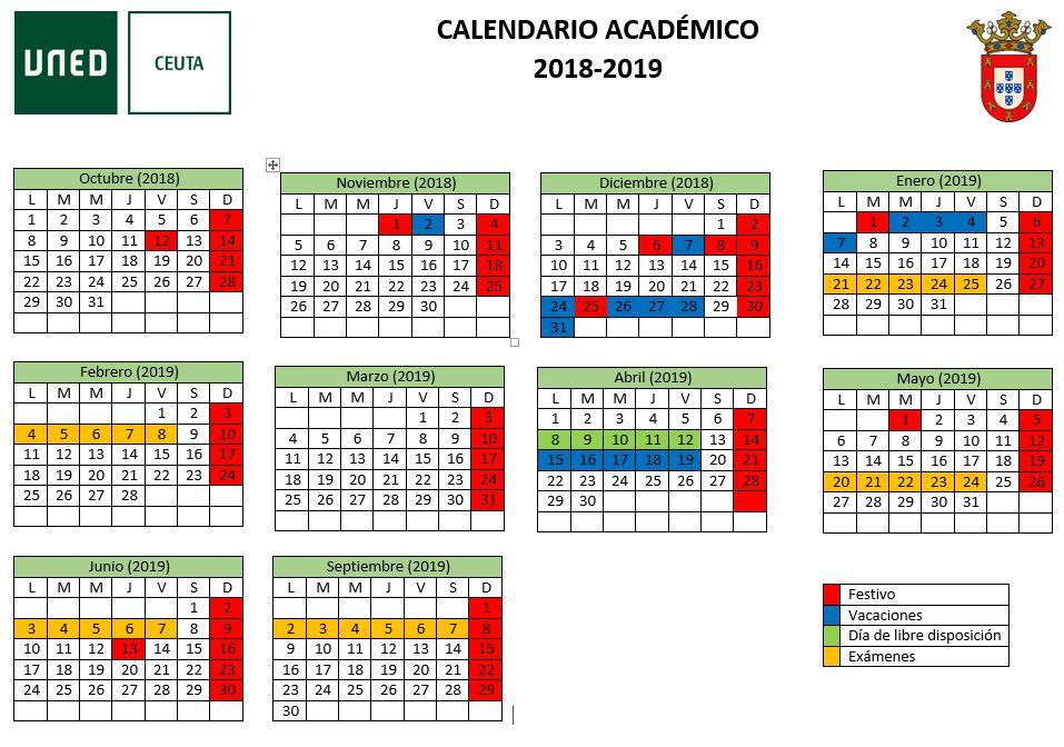 Uned Calendario Examenes.Uned Ceuta Calendario Academico
